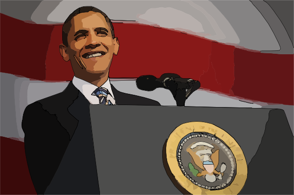 Barack Obama Clip Art At Clker Com   Vector Clip Art Online Royalty
