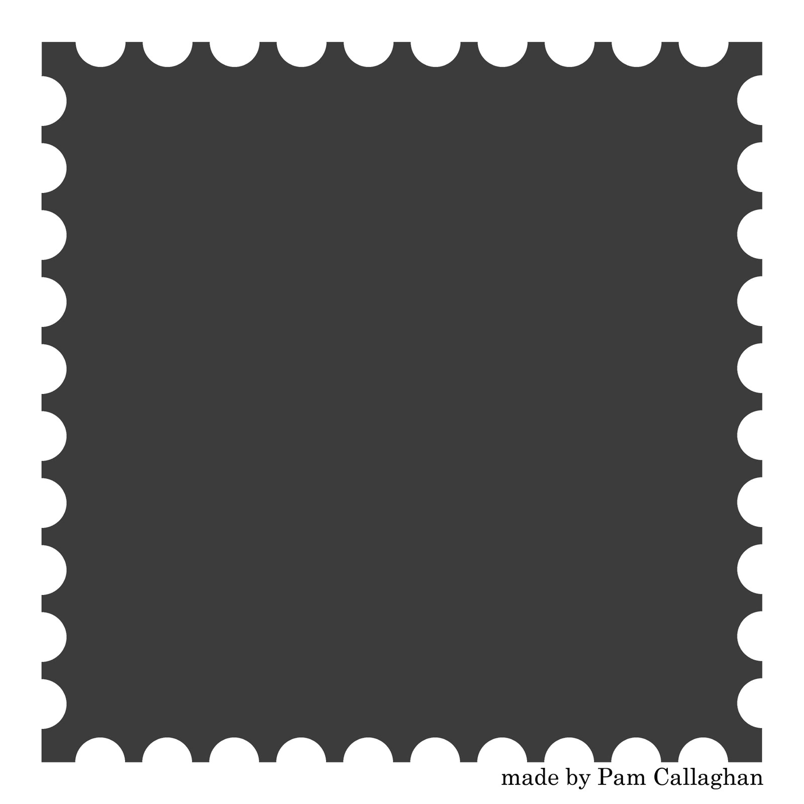 Postage Stamp Clip Art Black And White Stamp Blank Clipart - ...