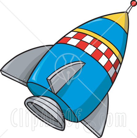 Vintage Rocket Ship Clipart - Clipart Kid