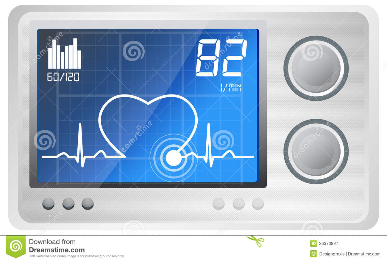 Ecg Monitor Clipart Ecg Monitoring   Illustration