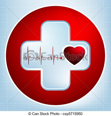 Ekg Machine Clip Art Eps 8 Vector Clipart
