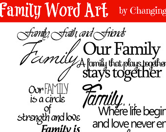 Family Word Art Collection 10 Quote S   Words And Phrases Clip Art