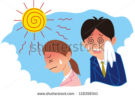 Heat Exhaustion Clipart Heat Stroke   Stock Vector