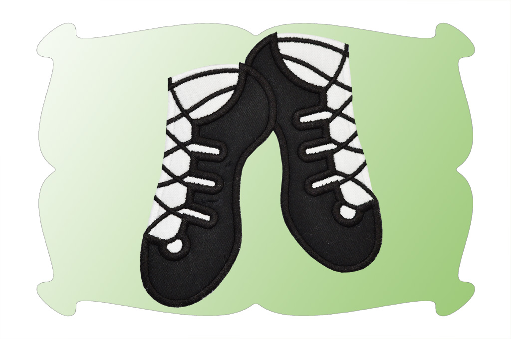 Irish Dance Shoe Embroidery Designs