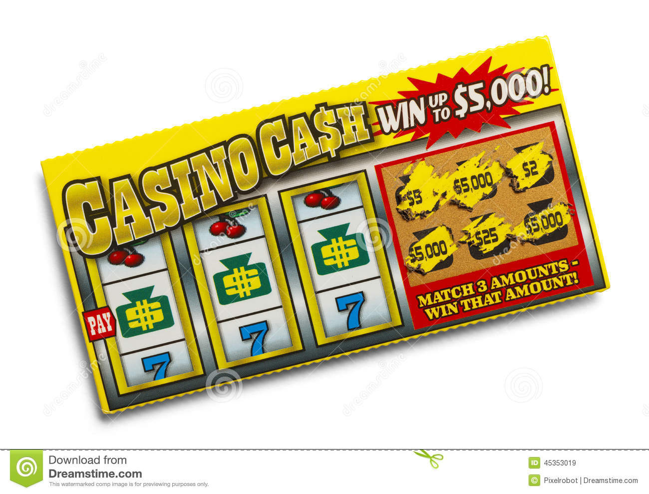 Lottery Ticket Stock Photo   Image  45353019