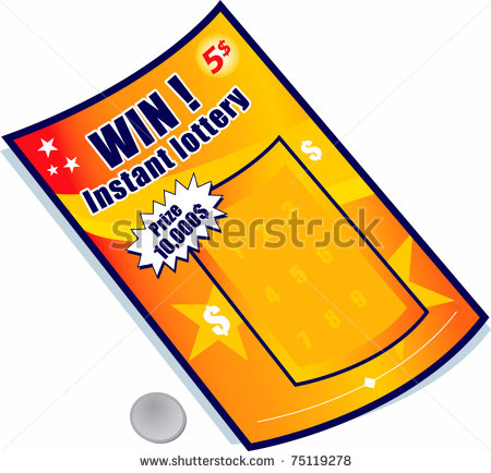 Lottery Ticket Stock Vector Clipart