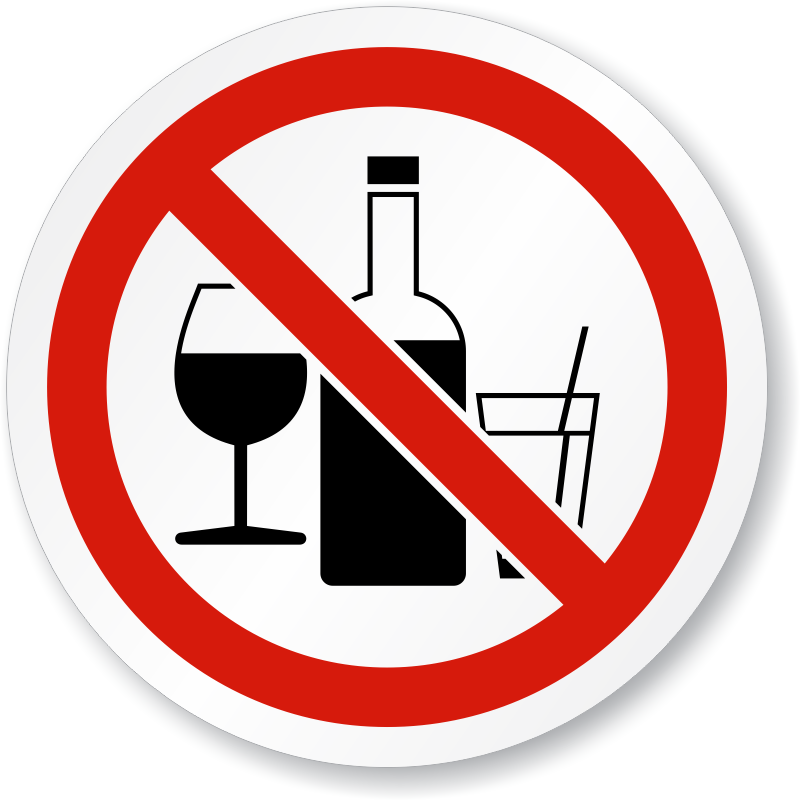 No Alcohol Drugs Iso Sign Is 1100