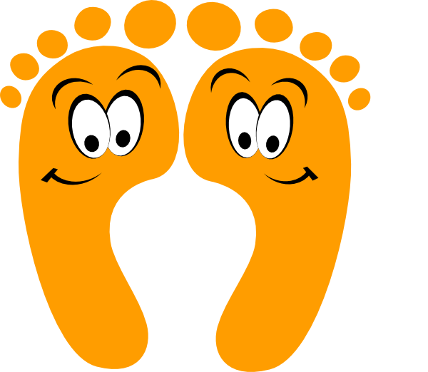 Orange Happy Feet Clip Art At Clker Com   Vector Clip Art Online