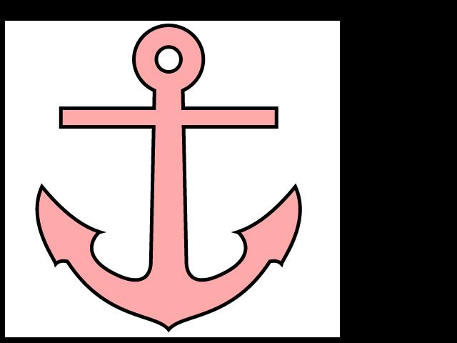 Pink Anchor   Free Images At Clker Com   Vector Clip Art Online
