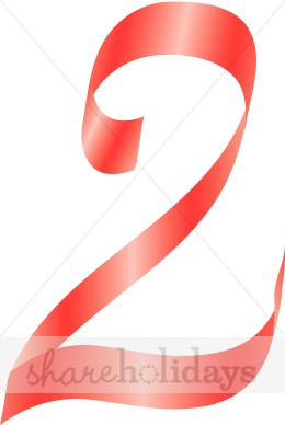 Red Number 2 Clipart     Like Red Ribbon