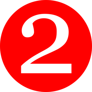 Red Number 2 Clipart Red Roundedwith Number 2