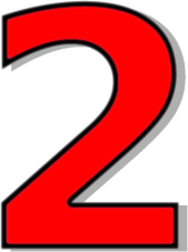 Red    Signs Symbol Alphabets Numbers Outlined Numbers Red Number 2