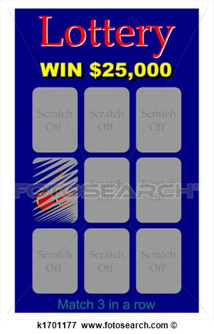 Stock Illustration   Lottery Ticket  Fotosearch   Search Eps Clipart