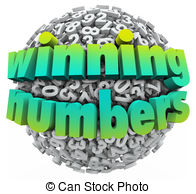 Winning Numbers Ball Lottery Jackpot Game Sweepstakes Clip Art