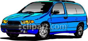 Blue Van Clipart