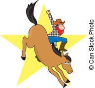 Bronc Rider   A Cowboy Rides A Bucking Bronco He Looks Happy