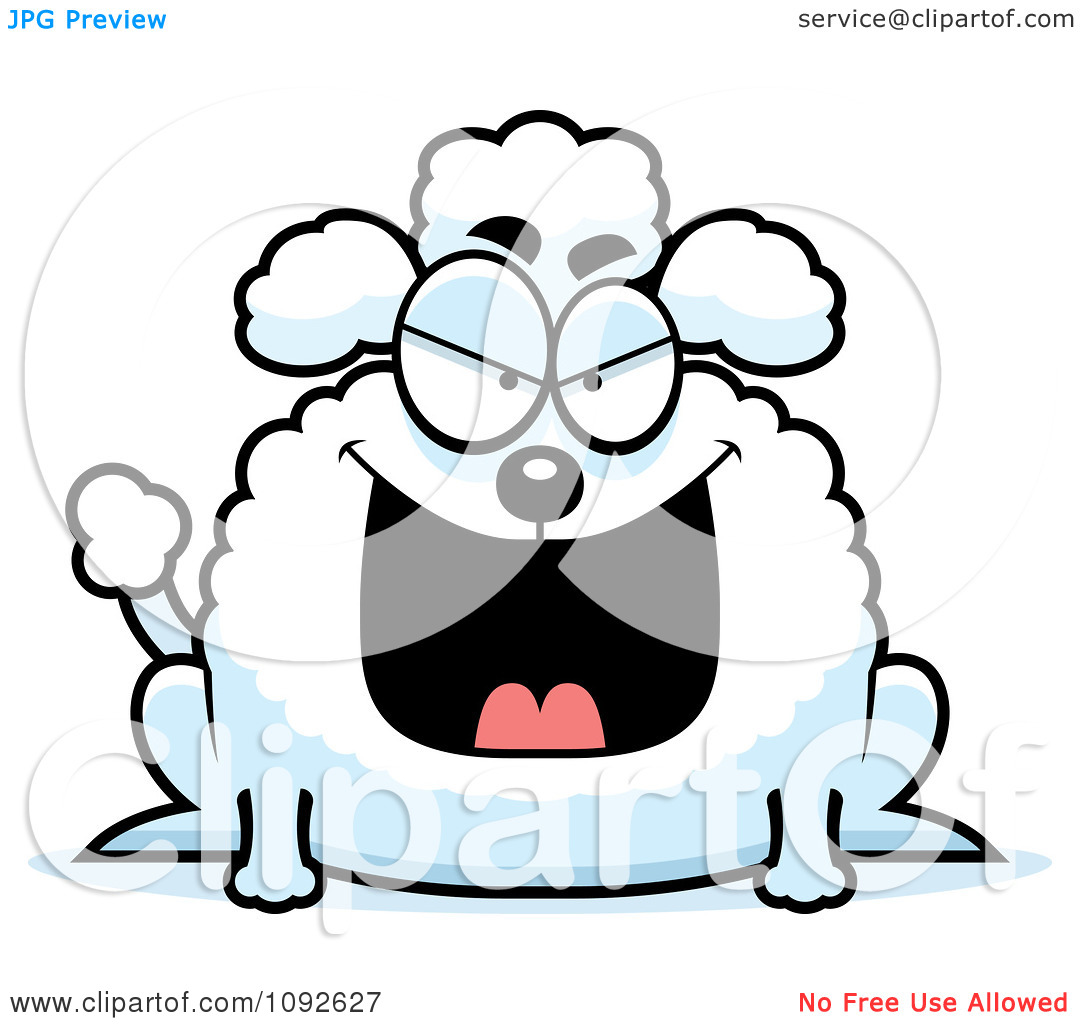 Clipart Chubby Evil Poodle   Royalty Free Vector Illustration By Cory