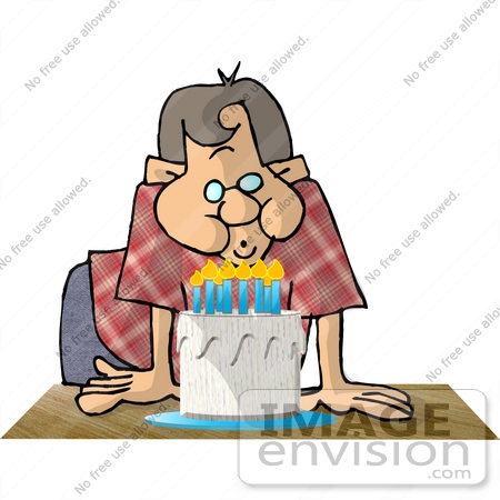 Clipart Of A Caucasian Boy Or Man In A Plaid Red Shirt And Blue Pants