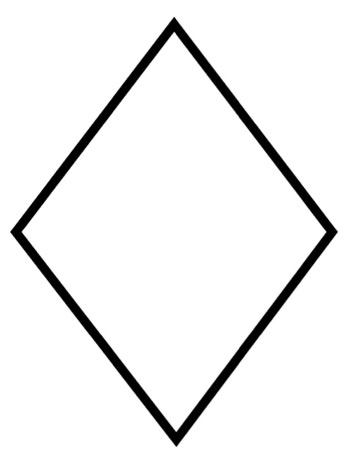 Diamond   Free Shapes Coloring Pages To Print And Color  Online
