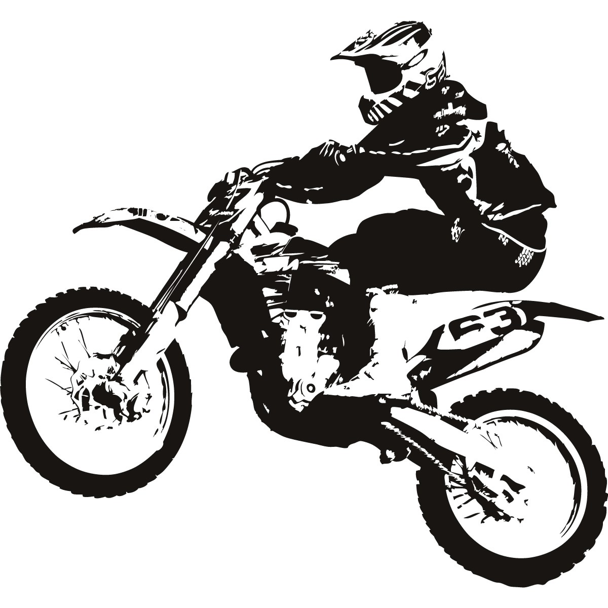 Dirt Bike Clipart Black And White   Clipart Panda   Free Clipart