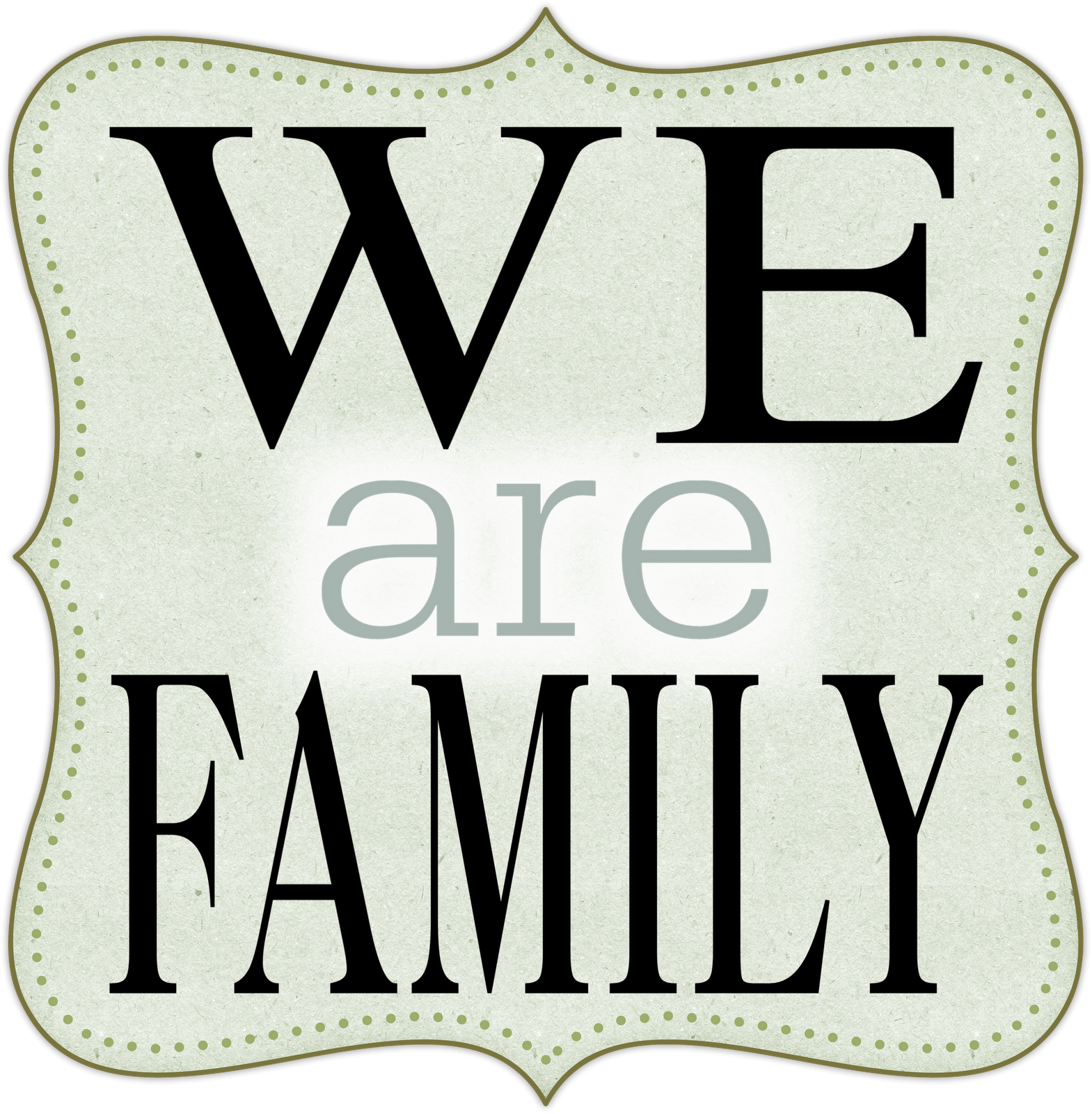 Family Word Clipart We Are Family Clipart Png