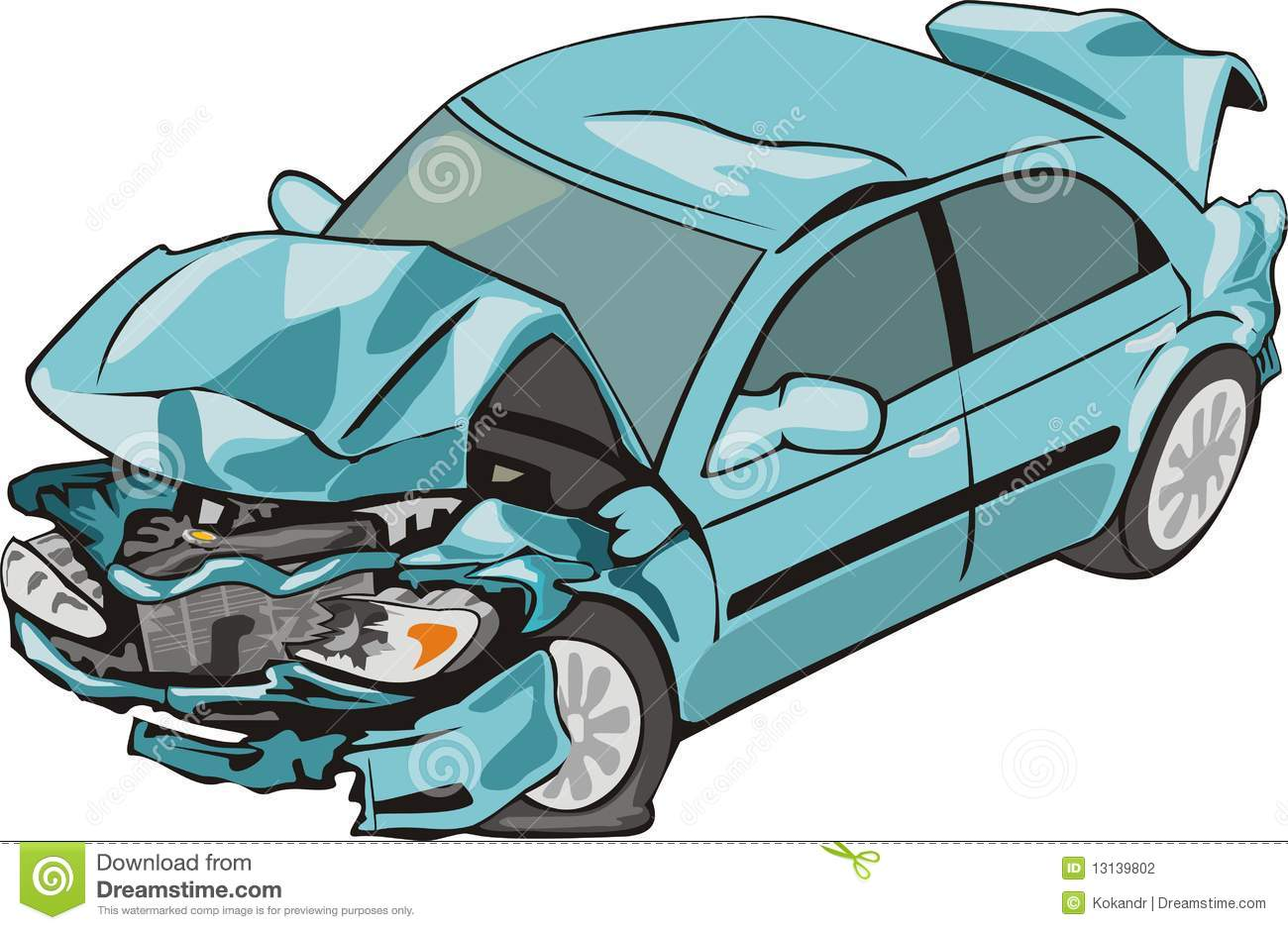Front And Rear Crash Car Stock Photography   Image  13139802