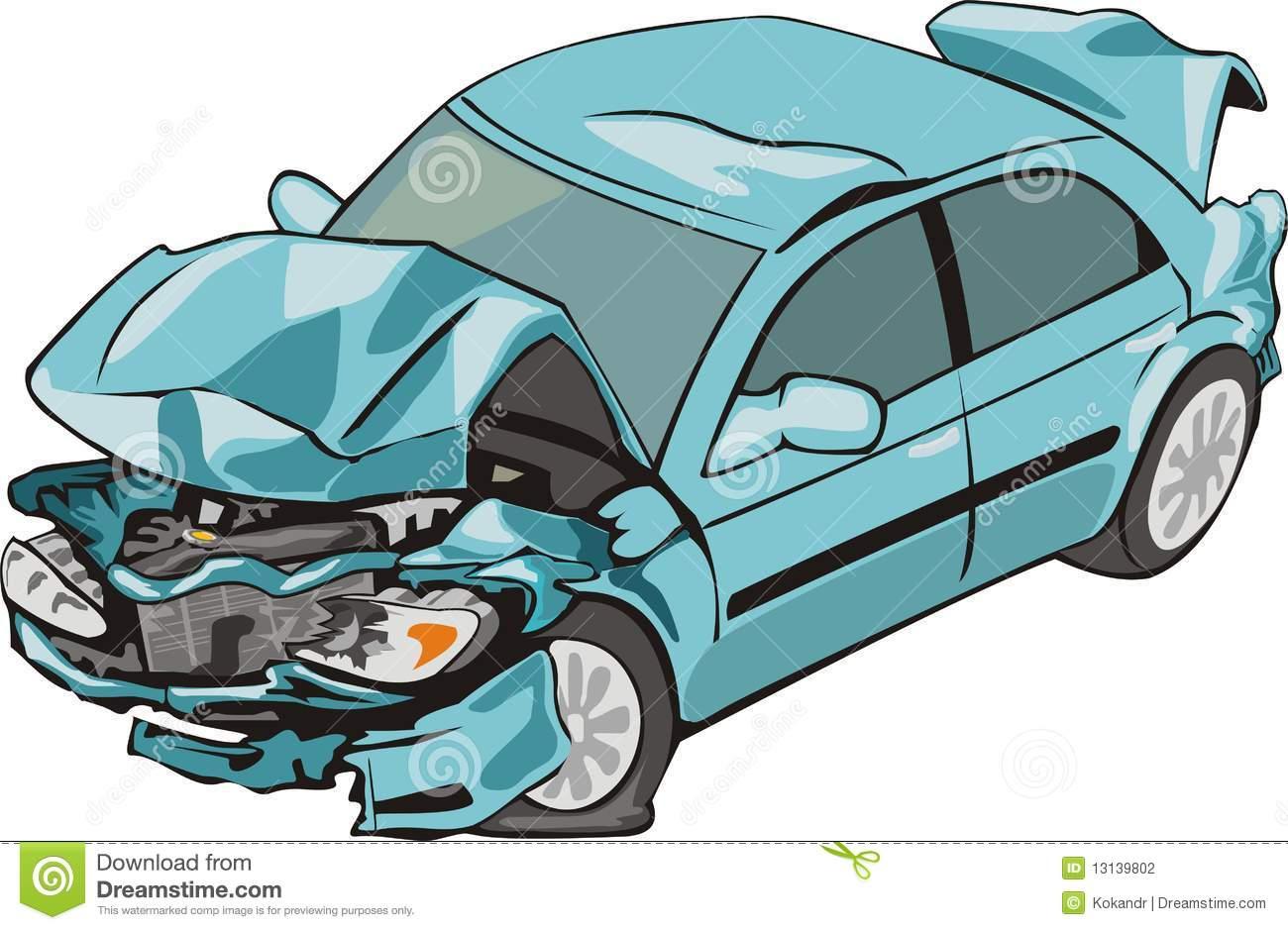 damaged car clipart - photo #7