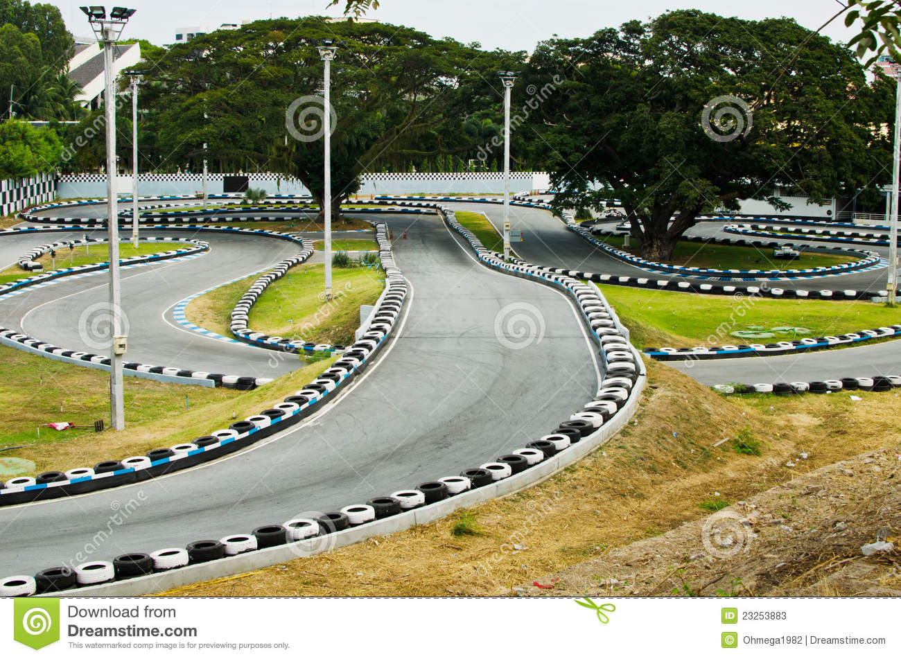 Go Kart Track Clipart Clipart Suggest
