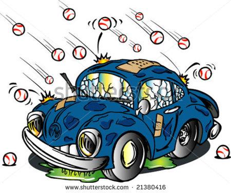 Hail Damaged Car Stock Vector 21380416   Shutterstock