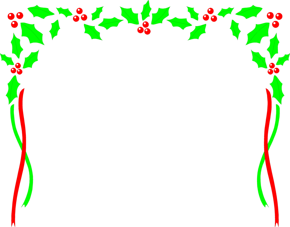 Holly Borders Christmas Holly Border Christmas Holly Clip Art Border