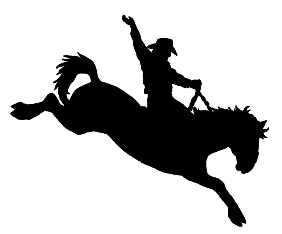 Items Similar To Saddle Bronc Riding Decal Sticker   Original Designs
