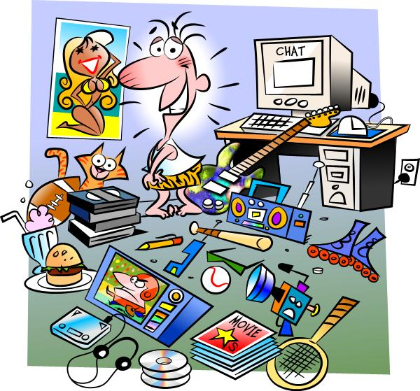 Messy House Clipart