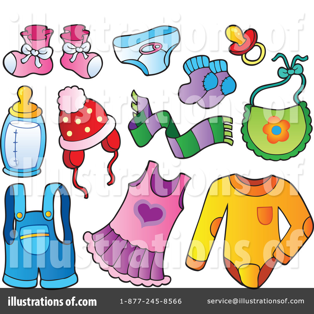 Royalty Free  Rf  Baby Items Clipart Illustration By Visekart   Stock