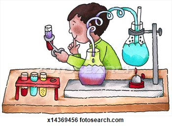 Stock Illustration   Boy Doing Science Experiment  Fotosearch   Search