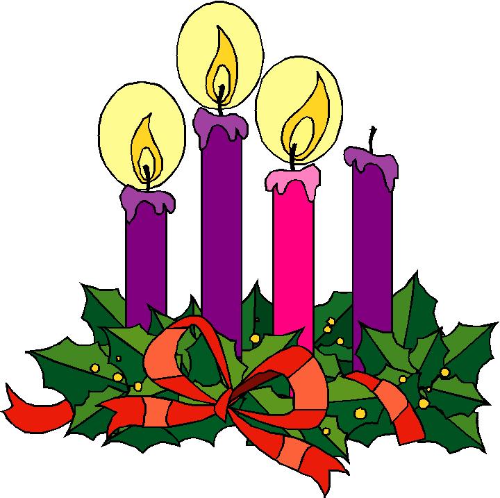 2nd Sunday Advent Wreath Clipart - Clipart Kid
