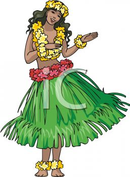Cartoon Hula Dancer Clipart