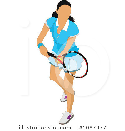 Cartoon Tennis Players Icon Royalty Free Cliparts Vectors And Stock