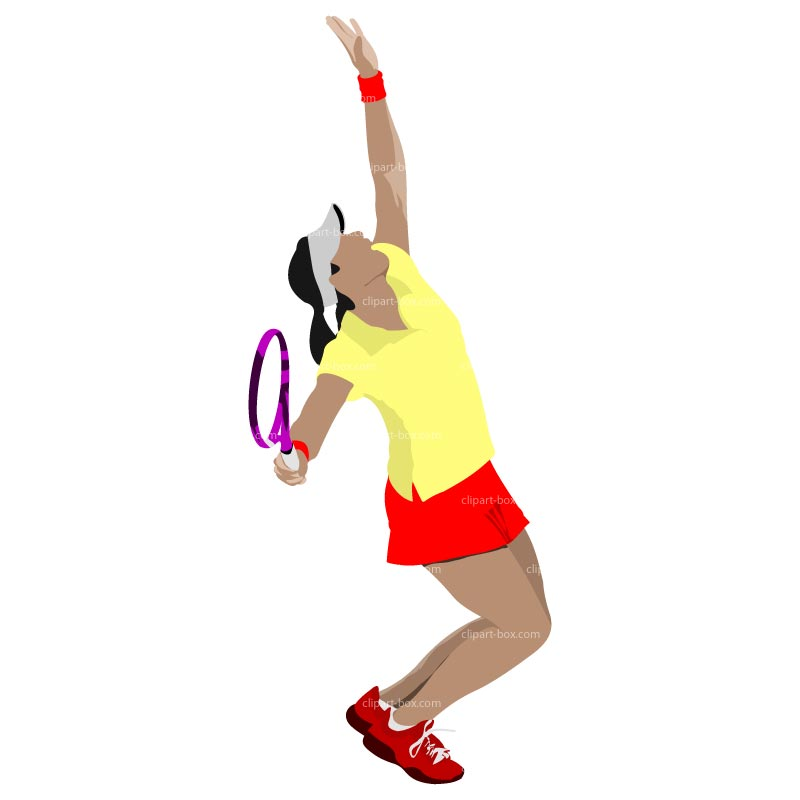 Clipart Girl Playing Tennis   Service   Royalty Free Vector Design