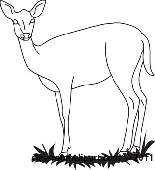 Deer Clip Art Deer Outline04 112 Jpg