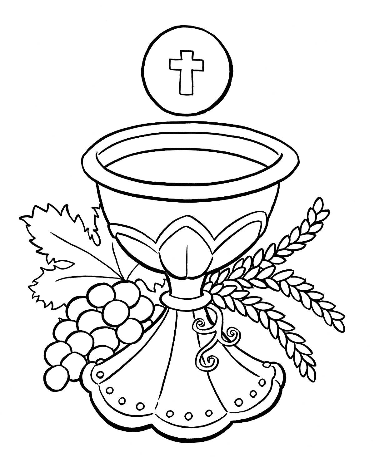 Chalice And Host Clipart - Clipart Suggest