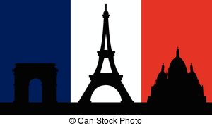 French Design With Paris Flag   French Design With The