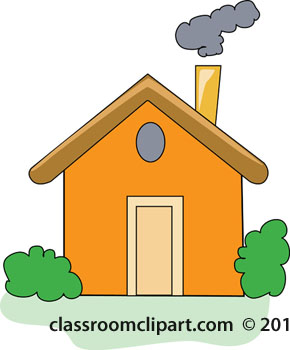 Home   House With Chimney Smoke   Classroom Clipart