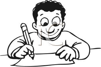 Do Homework Clipart Black And White Free - image 6