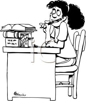 Do Homework Clipart Black And White Free - image 7