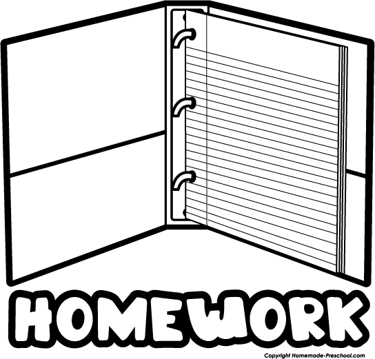 Homework Black And White Clipart - Clipart Suggest