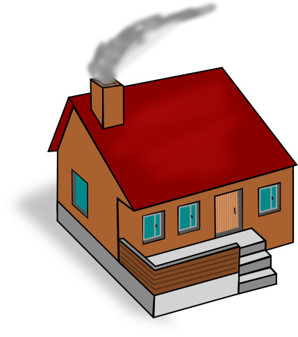House Smoke Chimney   Http   Www Wpclipart Com Buildings Homes Homes 3
