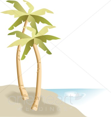 Palm Trees Beach Clipart   Beach Borders
