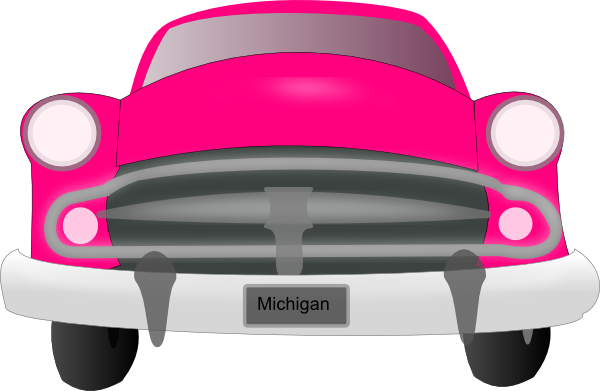 Pink Car Front Clip Art At Clker Com   Vector Clip Art Online Royalty
