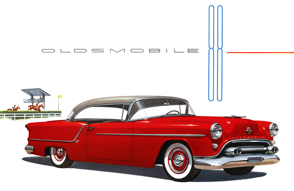Plan59    Classic Car Art    1954 Oldsmobile 88 Holiday Coupe