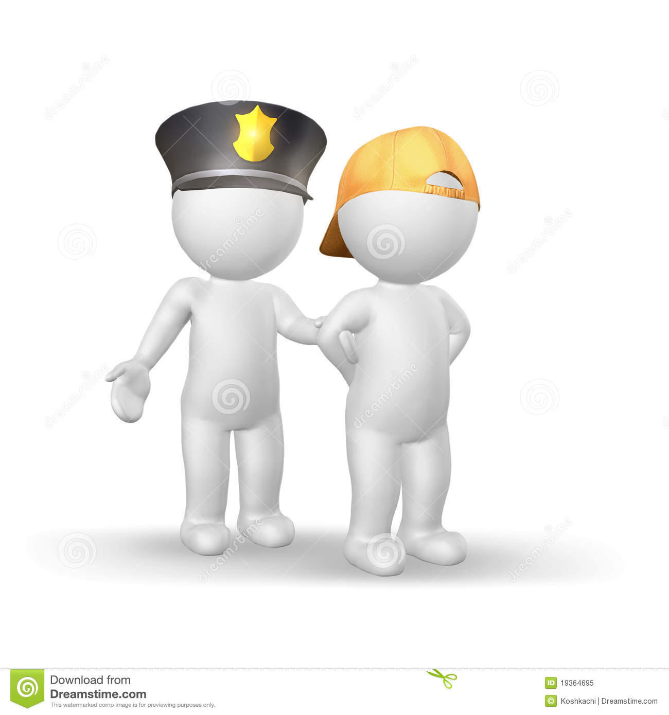 juvenile crime clipart clipart kid policeman and lteenager isolated on white background